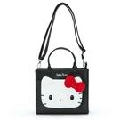 【震撼精品百貨】Hello Kitty_凱蒂貓-三麗鷗~3用斜背提袋-黑*97527