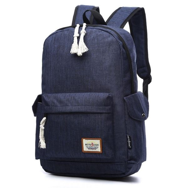KGH168 輕便帆布14吋筆電後背包 學生背包 R3581