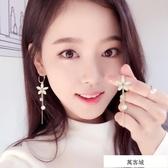 顯臉瘦的耳環女氣質韓國個性百搭長款耳夾無耳洞吊墜一款兩戴耳墜 萬客城