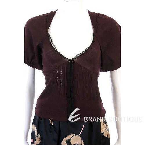 VALENTINO 深紫色羊毛上衣 0840199-83