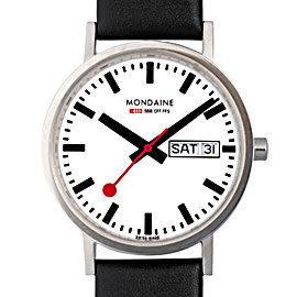 3.6cm Day Date 平面雙視窗腕錶 Mondaine 瑞士國鐵錶