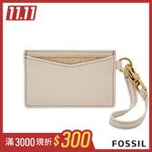 FOSSIL 仿皮卡夾(附鉤扣手腕帶)-米膚色