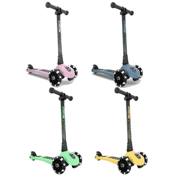 奧地利 Scoot&Ride Kick3 LED炫輪滑板車-玫瑰粉/岩石藍/奇異果/萊姆【佳兒園婦幼館】