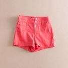 小清新韓版學院風純色三粒扣高腰修身版型短褲 C29-1-2-3V 彼得麗絲