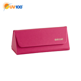 UV100 防曬 抗UV 高貴典雅硬式眼鏡盒-輕便可折