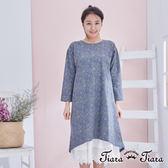 【Tiara Tiara】百貨同步 繁花盛放圓下擺長袖洋裝(紫/灰) 店推 新品穿搭