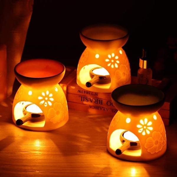 蠟燭香薰爐香薰燈精油爐薰丸陶瓷大號浪漫美容院家居安神助眠臥室  免運快速出貨