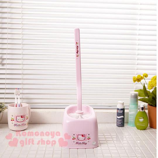 〔小禮堂韓國館〕Hello Kitty 馬桶刷《粉紅.大臉.草莓》輕鬆美化室內空間 8805396-17007
