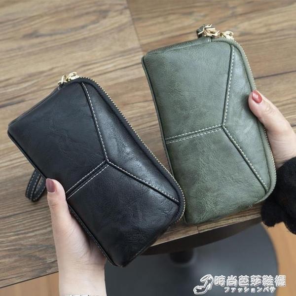 2021新款日韓長款女士女包簡約百搭手拿包簡約零錢手抓包手機包 時尚芭莎