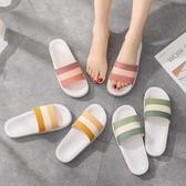 新款網紅拖鞋女夏防滑軟底簡約日系居家用一字型可濕水情侶涼拖鞋