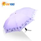 UV100 防曬 抗UV-晴雨自動反向傘-動物派對
