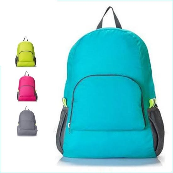 ♚MY COLOR♚韓版旅行可折疊雙肩包 多功能 雙肩背包 收納包 旅行包 輕薄款型 後背包【Y21】