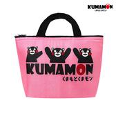 日本 正版授權 熊本熊 KUMAMON 保溫袋 保冰袋 手提袋 便當袋 藍/粉紅