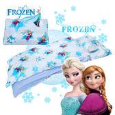 冰雪奇緣 夢幻魔法 藍 兒童睡袋 標準 台灣製 超取限一顆