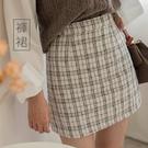 MIUSTAR 小香風格紋粗針織褲裙(共...