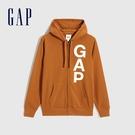 Gap男裝 Logo活力亮色連帽外套 624873-秋日橙