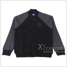 adidas 接袖雙色設計感釦式棉夾克外套(男/黑+灰)