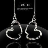 Justin金緻品 時尚K金耳環 愛情輪廓 幸福甜美 珠寶 正14K金 585K 非鍍金 抗過敏