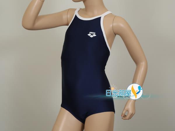 *日光部屋* arena (公司貨)/ A185WJ-NVWH 女童連身泳裝