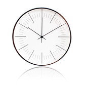 LOVEL 30cm簡約鋁框時鐘-俐落白(T7212-WH)