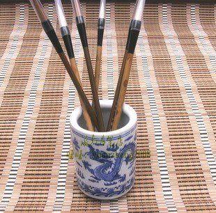 青花瓷筆筒 置物筒高11厘米