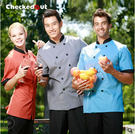 廚師服短袖廚房廚師服裝男女廚師工作服夏裝廚師半袖衣服廚師制服