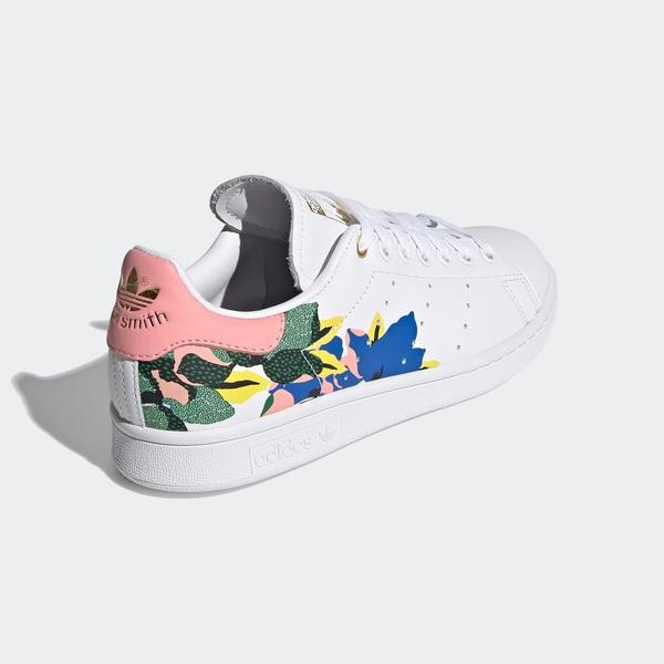 Adidas Stan Smith W [FW2522] 女鞋 運動休閒 經典 舒適 簡約 穿搭 愛迪達 花卉 白 粉紅