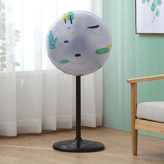 電扇罩 風扇 防塵罩 防水 半包 風扇套 全包 PEVA 防塵 迷霧森林 風扇防塵罩(短款)【Z003】慢思行