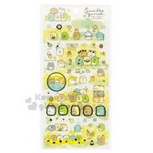〔小禮堂〕角落生物 日製造型燙金透明貼紙組《綠黃.戴花圈》裝飾貼.黏貼用品 4974413-72745