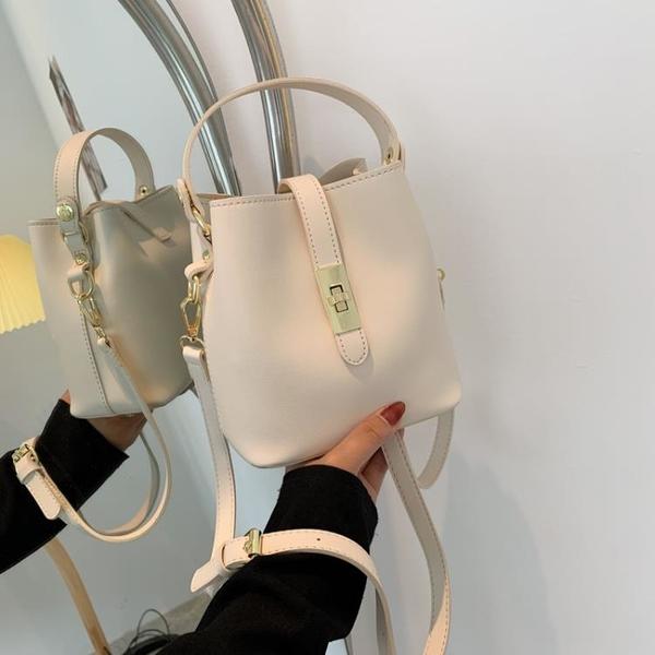 高級感小包包女2021夏季新款潮韓版時尚斜挎包百搭ins單肩水桶包 小艾新品