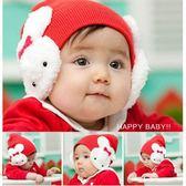 套頭帽 童帽 素面遮耳小兔套頭帽 五色 寶貝童衣