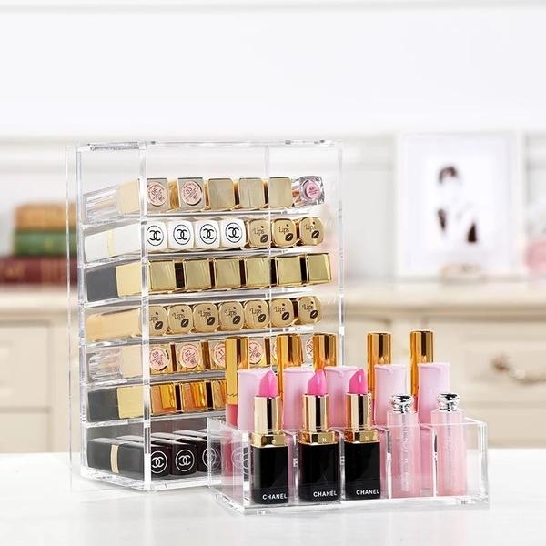 ❤️️ ☘️超大口紅收納架☘️化妝品收納盒 彩妝化妝盒 化妝居家收納 透明化妝櫃彩妝盒