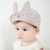 兒童棒球帽 韓國大兔耳棉麻感軟簷棒球帽 童帽 鴨舌帽