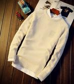 毛衣男韓版修身秋冬季新款冬季套頭圓領針織衫長袖男士線衣潮