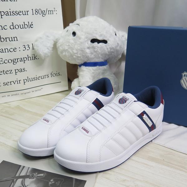 K-SWISS LUNDAHL SLIP-ON 男款 休閒鞋 06097175 白X藍 大尺碼【iSport愛運動】