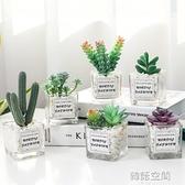 仿真綠植物小盆栽辦公室桌面擺設迷你仙人掌多肉裝飾假花客廳擺件