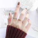情侶戒指 日韓潮人學生個性冷淡風簡約帶鑽網紅鈦鋼食指關節戒指女情侶指環