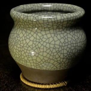 [協貿國際]  創意青瓷壇式花盆菖蒲專用 (1入)