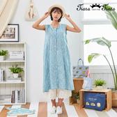 【Tiara Tiara】百貨同步新品aw  印花兩件式背心洋裝(深藍/水藍/藍綠/黃)