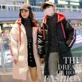 棉衣女新款韓版寬鬆bf面包服棉服女學生中長款過膝情侶裝棉服 晴天時尚館