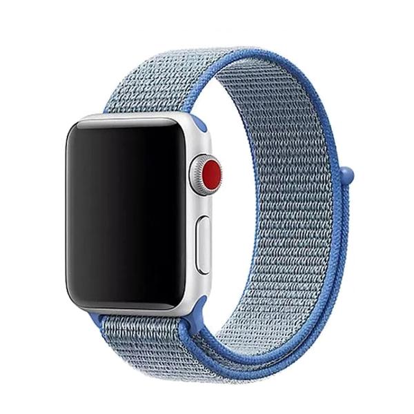 Apple watch 尼龍回環錶帶 38/40通用 42/44通用 方便魔鬼氈扣 黏扣式錶帶 輕盈透氣 運動錶帶
