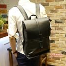 皮質後背包 後背包男士韓版皮質商務潮流電腦背包大學生書包旅行大容量簡約