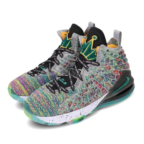 Nike 籃球鞋 LeBron XVII LJFF GS I Promise 黑 彩色 女鞋 大童鞋 運動鞋 【ACS】 CW2761-300