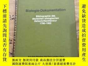 二手書博民逛書店罕見Biologie-Dokumentation.1796-1965Y252403 Dr.Martin Par