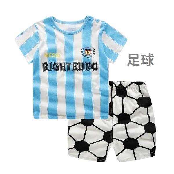 嬰兒短袖套裝 男寶寶 短袖上衣 + 短褲 寶寶童裝 ZS11901 好娃娃
