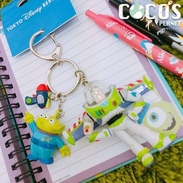 日本東京迪士尼 玩具總動員 三眼怪 巴斯光年 鑰匙圈 掛飾吊飾 COCOS DK415