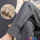 運動長褲 加絨運動褲女秋冬季加厚衛褲寬鬆休閒長褲外穿仿羊羔絨保暖棉褲子新品
