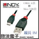 LINDY林帝 USB2.0 A/公 轉...