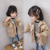 女童韓版中長款風衣外套新款春秋兒童寶寶長袖外套時尚潮   宜室家居