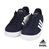Adidas 新竹皇家 Daily 藍色 皮質 運動休閒鞋 男款 NO.B0251